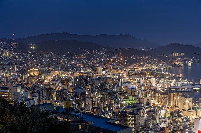 高い所から見た夜景